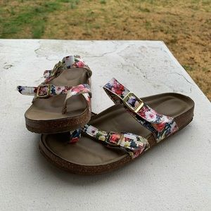 Madden Girl Floral Print Sandals